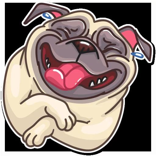 Pug Power - Sticker 1