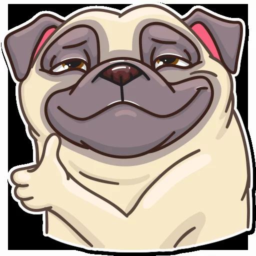 Pug Power - Sticker 3