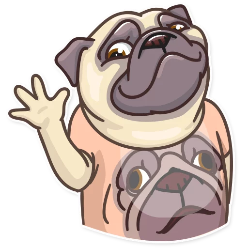 Pug Power - Sticker 5