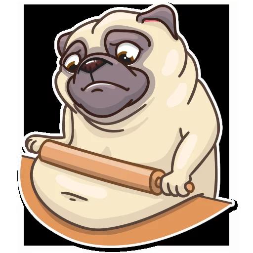 Pug Power - Sticker 21