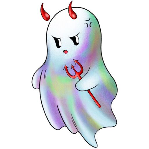Rainbow Ghost - Sticker 1