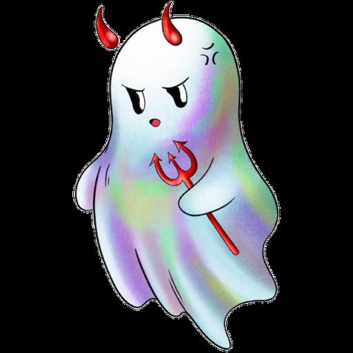 Rainbow Ghost - Sticker 1