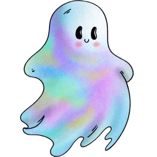Rainbow Ghost - Sticker 4