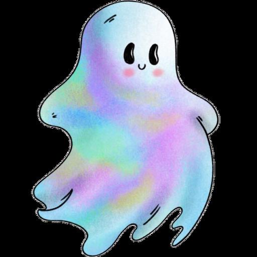 Rainbow Ghost - Sticker 4