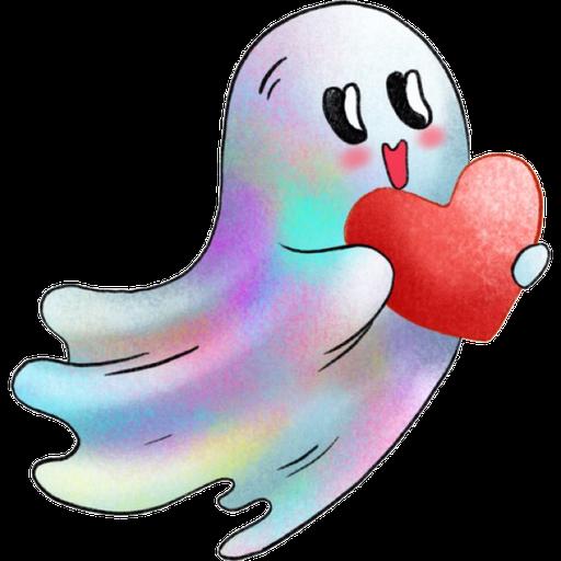 Rainbow Ghost - Sticker 6