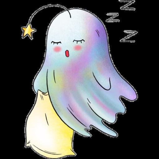 Rainbow Ghost - Sticker 10