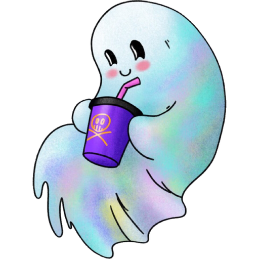Rainbow Ghost - Sticker 12