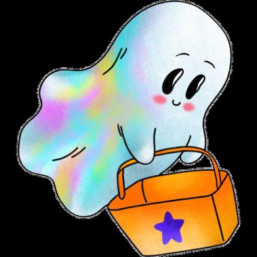 Rainbow Ghost - Sticker 8