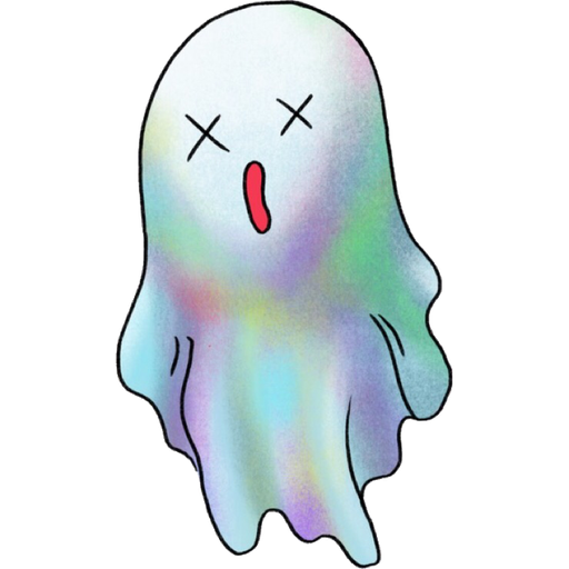 Rainbow Ghost - Sticker 3