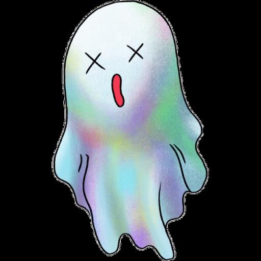 Rainbow Ghost - Sticker 3