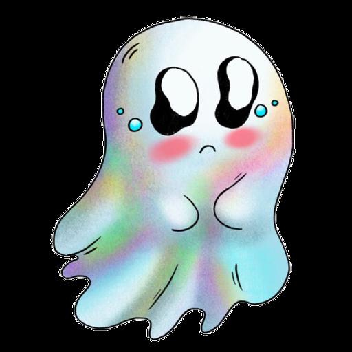 Rainbow Ghost - Sticker 11