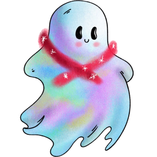 Rainbow Ghost - Sticker 5