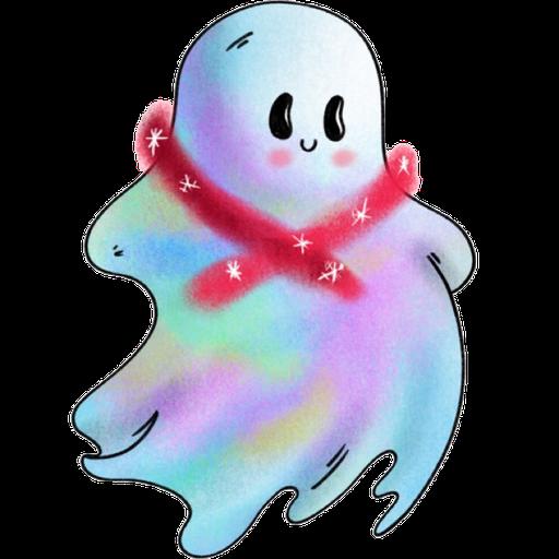 Rainbow Ghost - Sticker 5