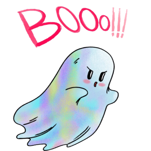 Rainbow Ghost - Sticker 2