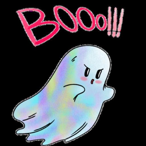 Rainbow Ghost - Sticker 2