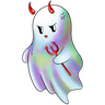 Rainbow Ghost - Tray Sticker