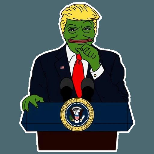 PePe Trump @kyprijan - Sticker 5
