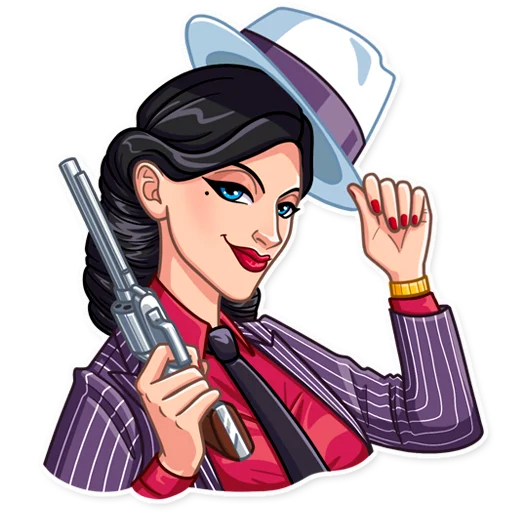 Mafia Girl - Sticker 5