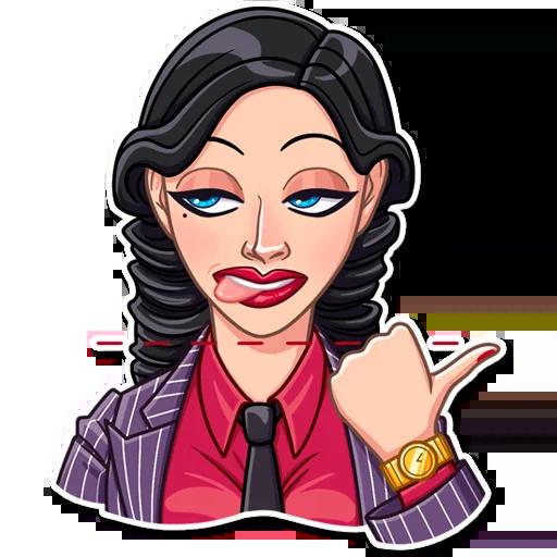 Mafia Girl - Sticker 19