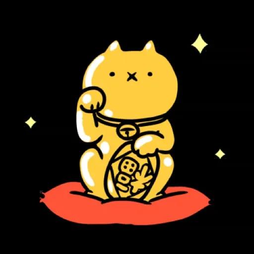 反應過激的貓 新年 - Sticker 3