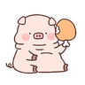 豬豬 - Tray Sticker