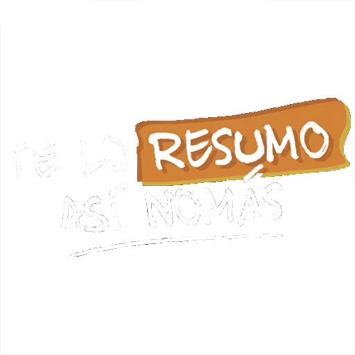 #TeLoResumo - Tray Sticker
