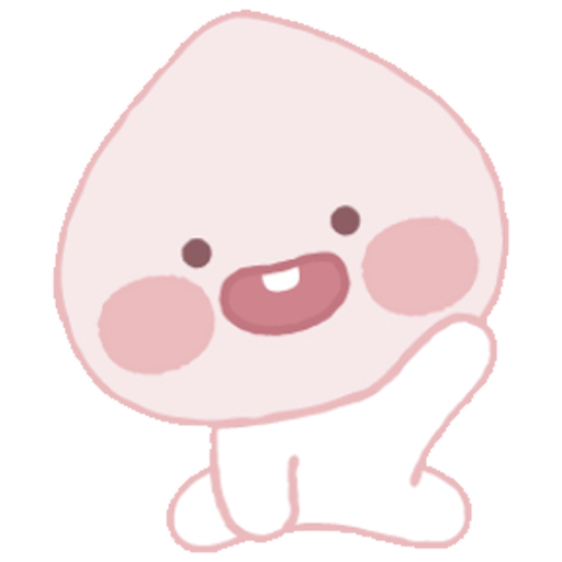 Baby apeach - Tray Sticker