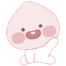 Baby apeach - Tray Sticker