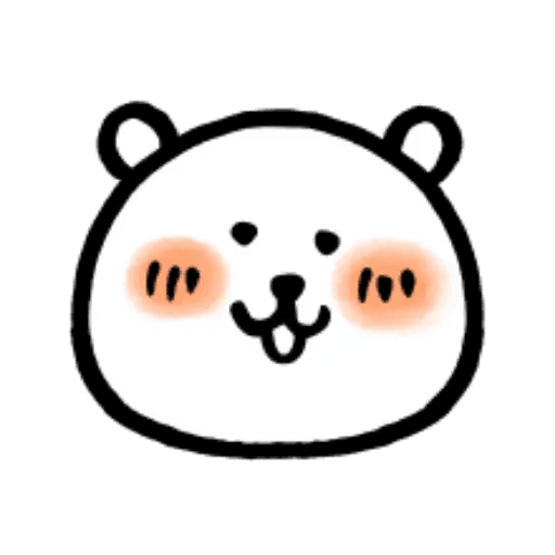 W bear emoji - Sticker 2