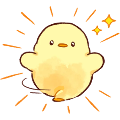 soft and cute chick 03 - Sticker 11