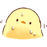 soft and cute chick 03 - Tray Sticker