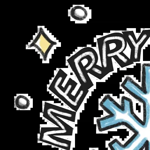 Christmas - Tray Sticker