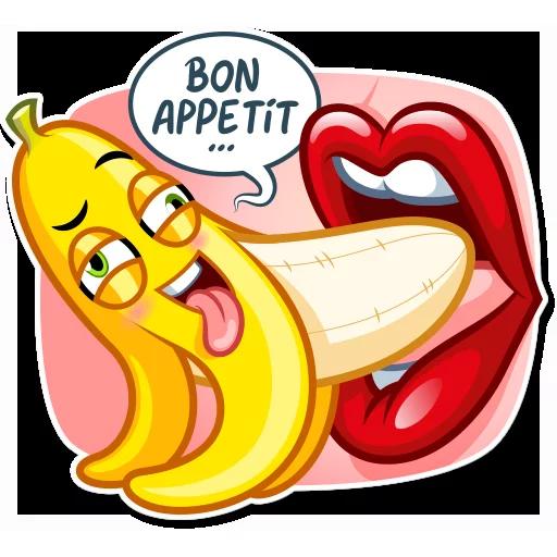 Banana plátano - Sticker 7