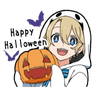 Halloween Costume Boy - Tray Sticker