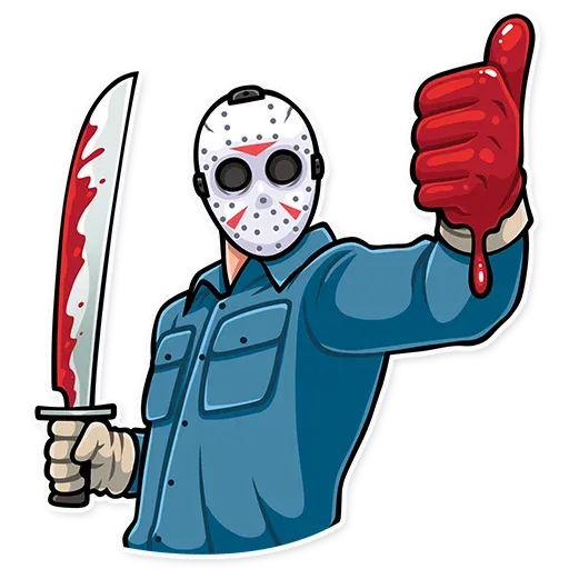 Friday 13th - Tray Sticker