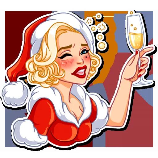 Santa Girl - Sticker 13