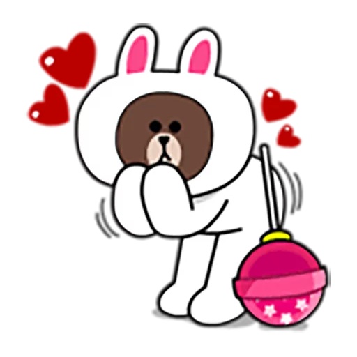 Brown and Cony 1 - Sticker 8