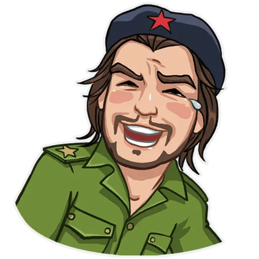 Comrade Che - Tray Sticker