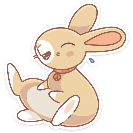 Almond Bunny - Sticker 4