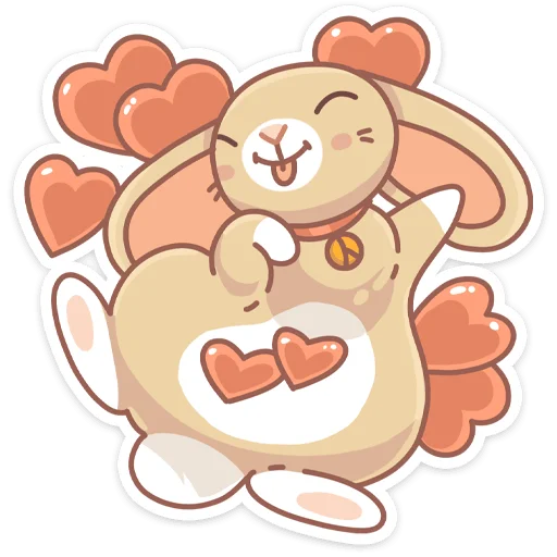 Almond Bunny - Sticker 2