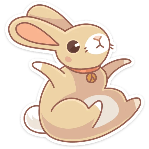 Almond Bunny - Sticker 1