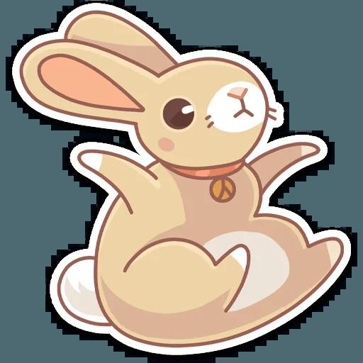 Almond Bunny - Tray Sticker