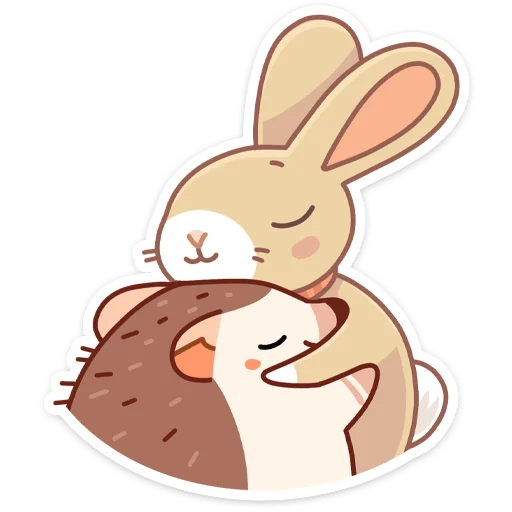 Almond Bunny - Sticker 5