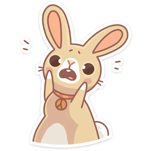 Almond Bunny - Sticker 3