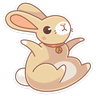 Almond Bunny - Tray Sticker