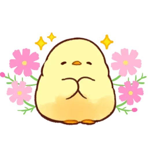 Soft and Cute Chick - Sticker 16