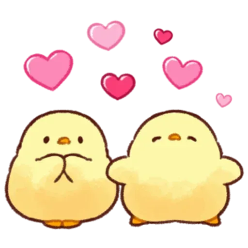 Soft and Cute Chick - Tray Sticker