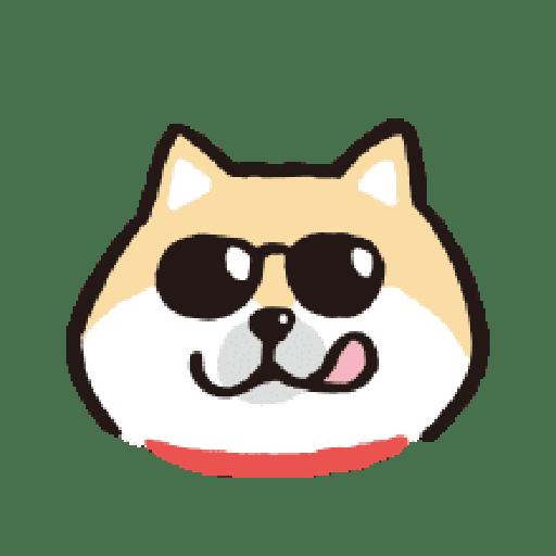 SHIBA Emoji - Sticker 3