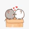 gatito - Tray Sticker