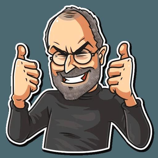 Steve Jobs - Tray Sticker